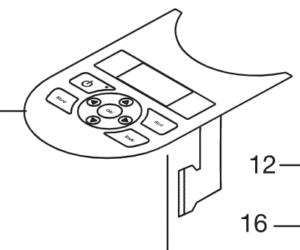 Pièces détachées Gardena - clavier