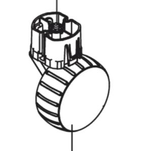 Pièces détachées Gardena - roue arrière complète